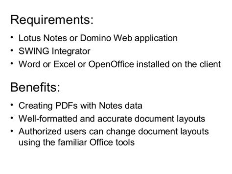 exle swing application pdf in lotus notes applications
