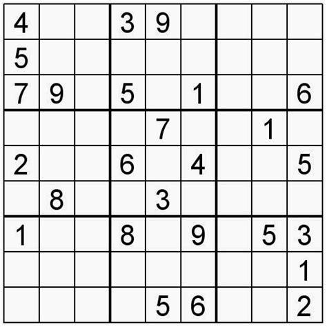 printable sudoku for middle school pasatiempos para imprimir sudoku n 186 156 para divertirse