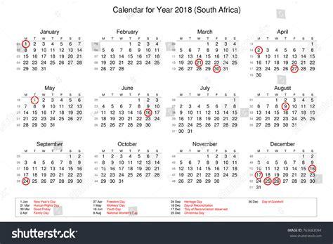 bank holidays a year calendar year 2018 holidays bank stock illustration