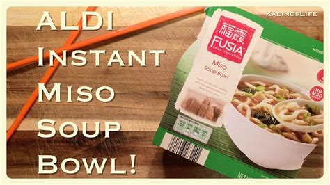 Fusia Instant by Fusia Instant Miso Soup Bowl From Aldi Foods Taste Test