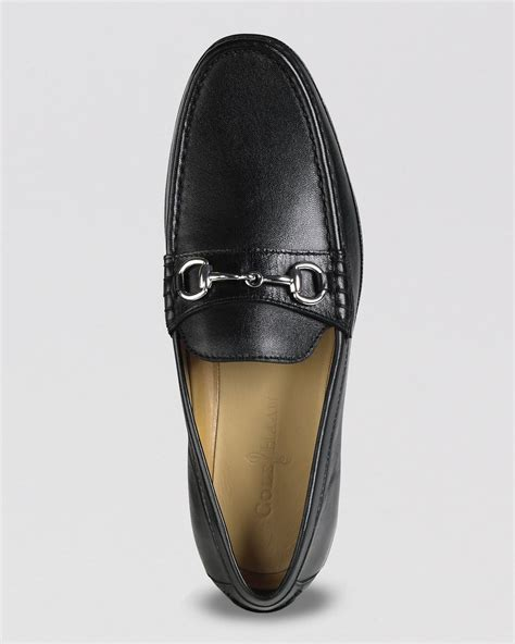 cole haan bit loafers cole haan hudson bit driving loafers in black for lyst
