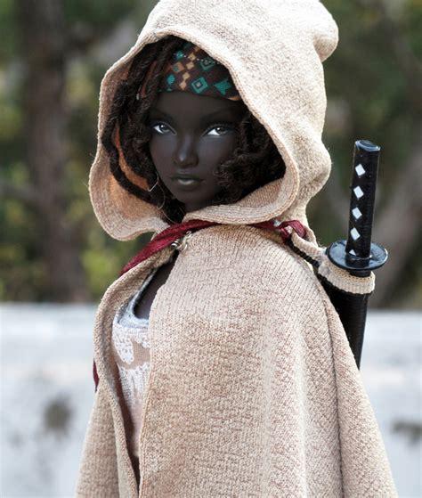 black doll 2 gorgeous custom michonne doll we