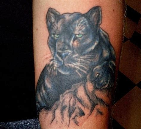 black panther tattoos black panther designs on leg models picture