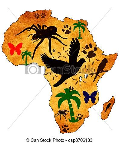 Bunte Kofferaufkleber by Drawings Of Wild Africa Map Of Africa With Pictures Of