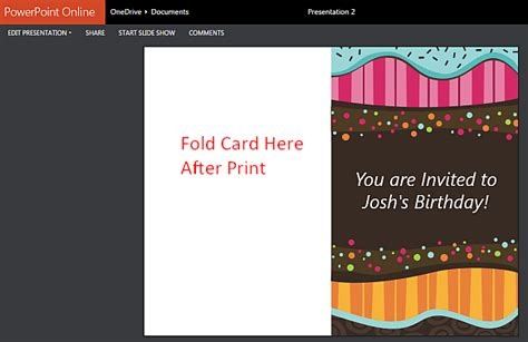 Powerpoint Template For Birthday Card by Printable Children S Birthday Card Maker Template For