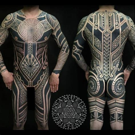 samoan tattoo full body blackwork bodysuit by samuel christensen