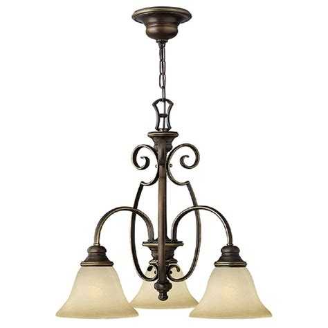 3 Arm Ceiling Light 3 Arm Tradtional Chandelier In Decorative Antique Bronze Glass Shades