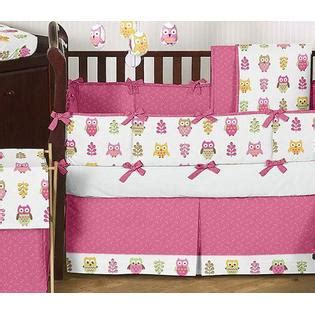 kmart crib bedding sweet jojo designs owl pink collection 9pc crib bedding