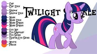 twilight color colour guide twilight sparkle by liggliluff on deviantart