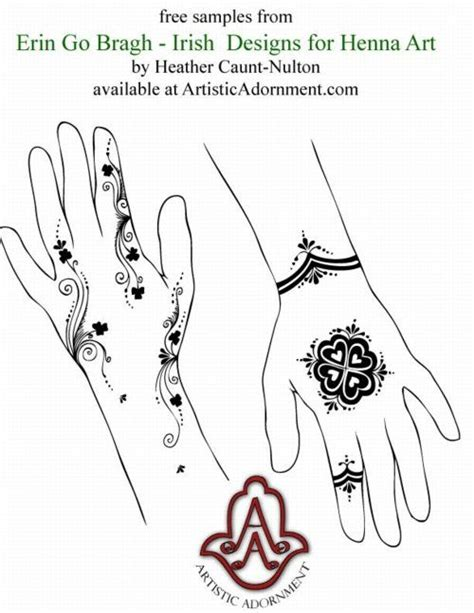 henna tattoo prices ireland erin go bragh and celtic henna designs 7 00