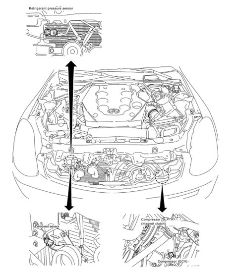automotive air conditioning repair 1993 infiniti g engine control repair guides maintenance charging the system 1 autozone com