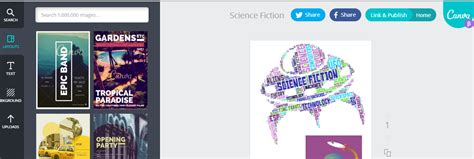 canva word cloud learning in progress project genre fy the fiction section