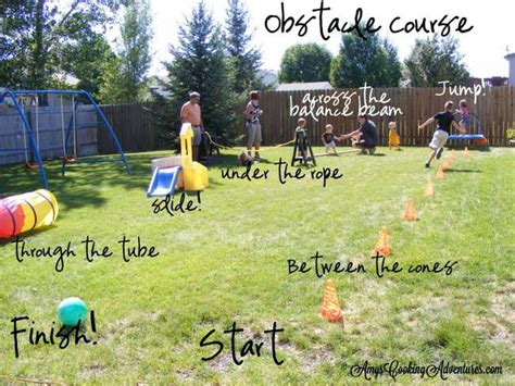 backyard obstacle course for kids nautical birthday party homemade backyard obstacle