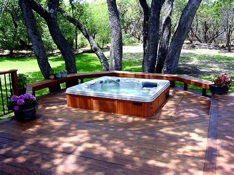 hot tub deck pictures