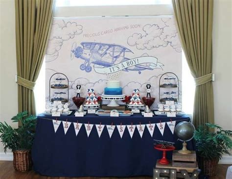 vintage themed events vintage aviation baby shower quot vintage aviation themed