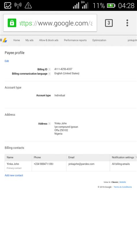 adsense nigeria newly approve non hosted nigeria google adsense for sale