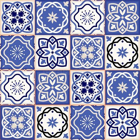 Moroccan Patchwork Tiles - gorgeous seamless patchwork pattern from colorful moroccan
