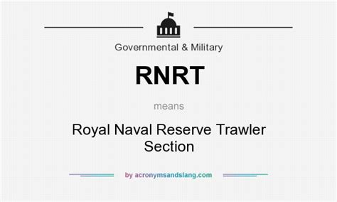 what is section 8 in the military rnrt royal naval reserve trawler section in government