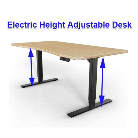 Electric Height Adjustable Computer Desk by Electric Height Adjustable Computer Desk View Electric