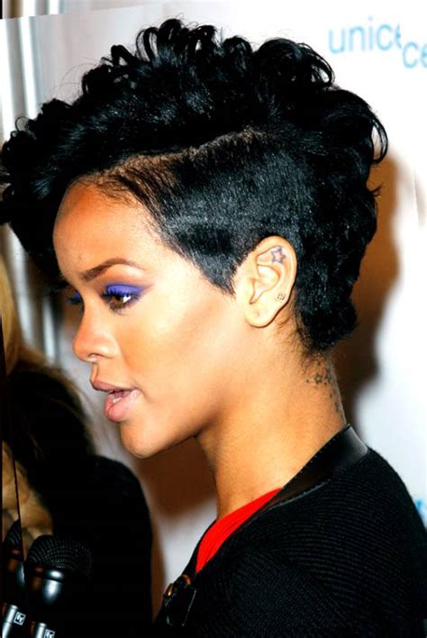 Rihanna Mohawk Hairstyles by Pin Rihanna Curly Mohawk Image Search Results On