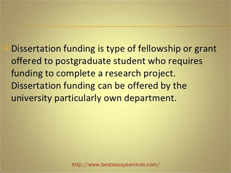 dissertation funding how to get funding your dissertation