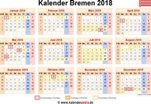 Kalender 2018 Pdf Bremen Kalender 2018 Bremen Ferien Feiertage Word Vorlagen