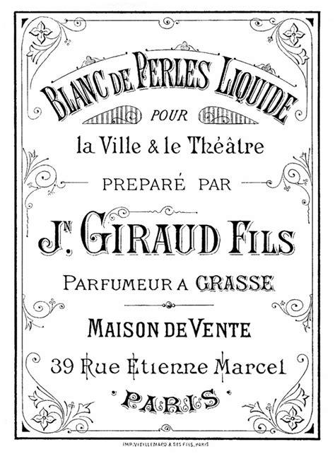 Vintage Perfume Label Image - The Graphics Fairy