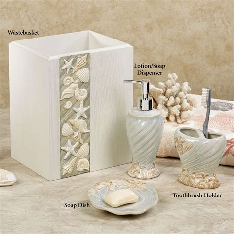 coastal bathroom accessories seashore coastal bath accessories from chapel hill by croscill