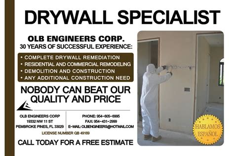 Small Graphic Design Business From Home Olb Engineers Corp Drywall Specialist Pembroke Pines