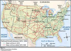 map of railroads history of the west