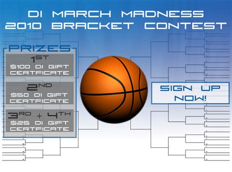March Madness Bracket Sweepstakes - detailed image march madness 2010 bracket contest the detailed image blog
