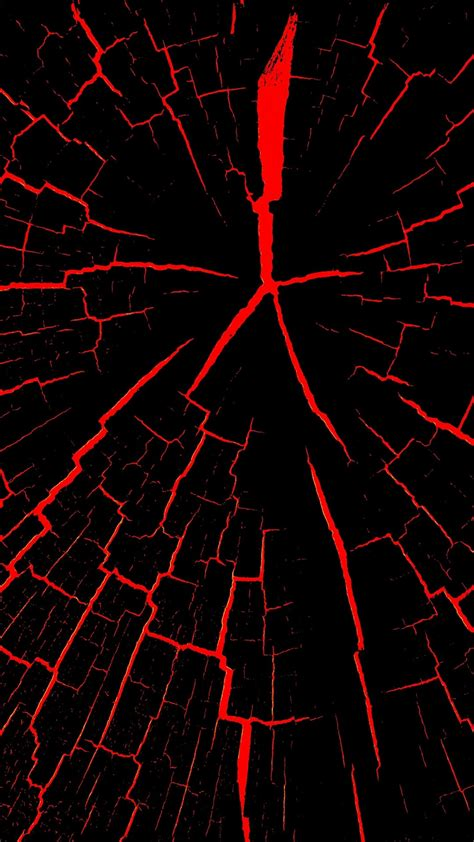 papeis de parede rachaduras preto  vermelho abstrato  hd imagem
