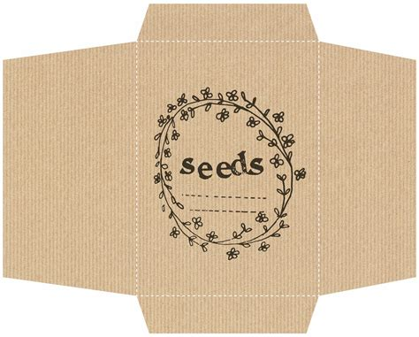 printable seed packet template we made this home diy seed packets