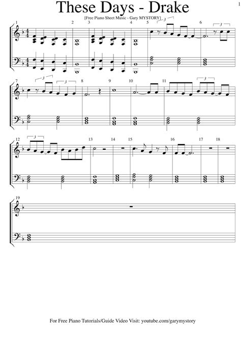 tutorial piano songs these days drake free piano sheet music easy piano