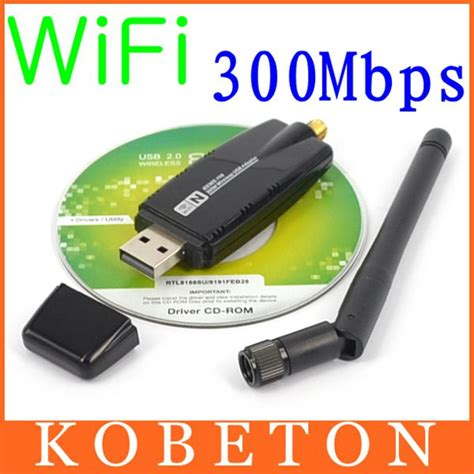 Wifi Adapter Usb Dongle Wireless 300 Mbps Antena 300 mbps wireless adapter usb 2 0 wifi 2 4g network lan card with antenna realtek 8191 for