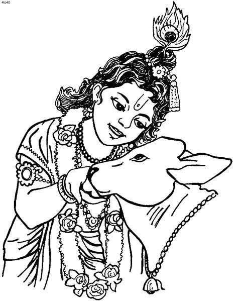 Pancha Coloring Page Janmashtami Puja Coloring Page Coloring Pages Of Krishna