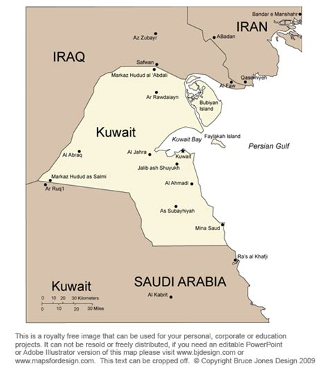 middle east map showing kuwait free middle east and central asia countries printable