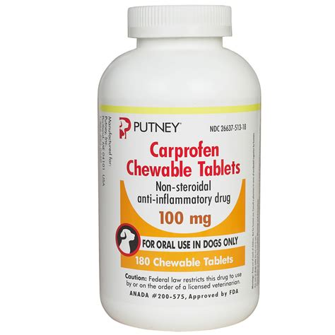 carprofen dosage for dogs putney carprofen chewable tablets 100mg 180 tabs