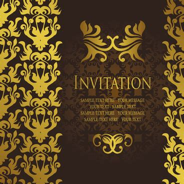 business invitation card template free vector download
