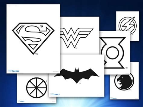 Activities Logo 11 themed printables justice league logos looking for an