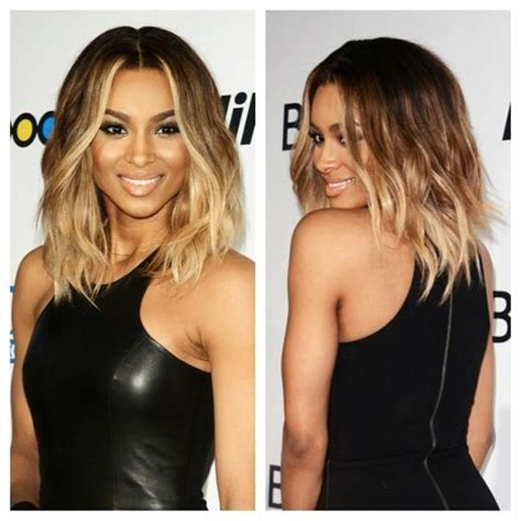 wavy bob with ombre newhairstylesformen2014 com obsessed with ciara s wavy long bob ombr 233 the hair