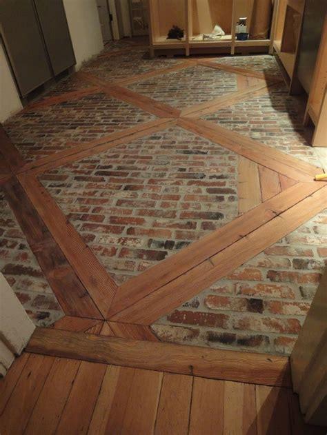 diy   install  brick floor