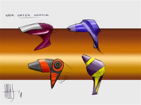 hair dryer doodle doodles sketches by alex trelis at coroflot