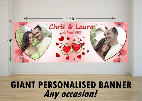 large wedding banner large personalised wedding banners mini bridal