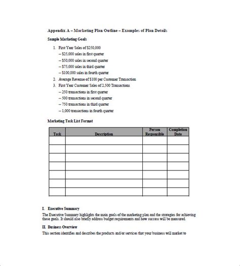 Simple Marketing Plan Template 12 Free Sle Exle Format Download Free Premium Marketing Plan Template Pdf