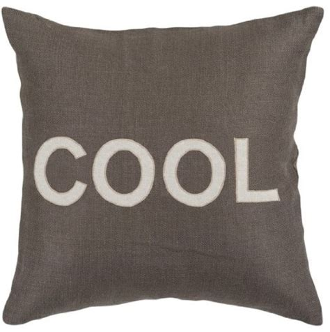 cool text decorative throw pillow charcoal gray and