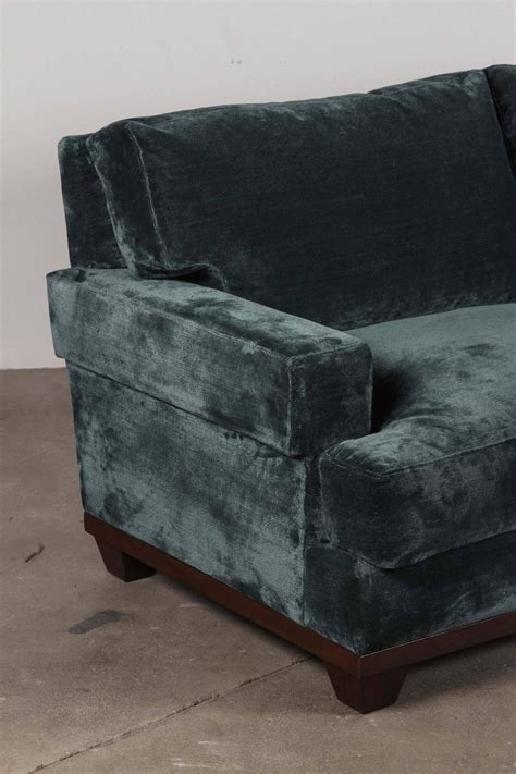 teal velvet sofa teal velvet sofa for sale at 1stdibs