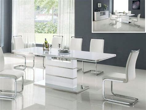 modern white dining table color 4 home ideas