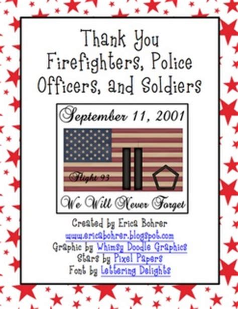 Thank You Letter For Firefighter September 11th Thank You Letters To Fighters And Soldiers September Classroom