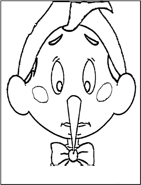 printable pinocchio mask free printable pinocchio coloring pages for kids